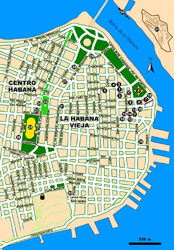 Le plan de La vieille Havane (Habana vieja) · Rénover la maison de